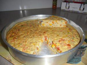 omelete de forno colorido