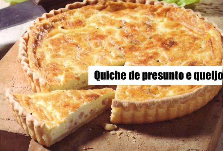 receita de quiche de presunto e queijo