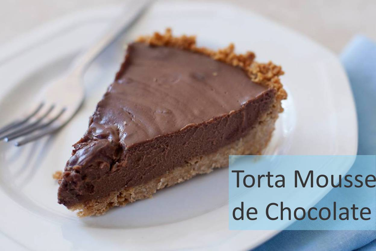 torta com mousse de chocolate