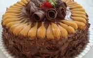 torta de doce de leite com chocolate