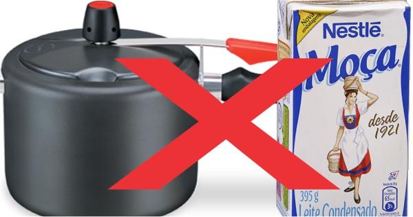 cozinhar leite condensado caixinha