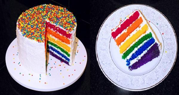 bolo arco- íris