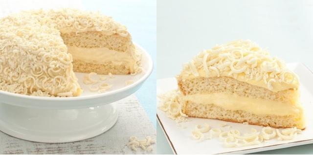 bolo mousse de chocolate branco