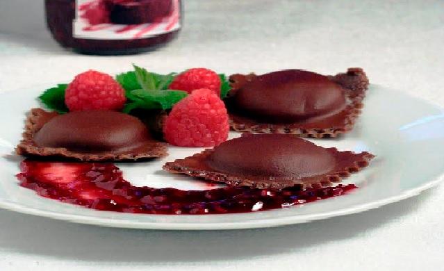 ravioli de chocolate