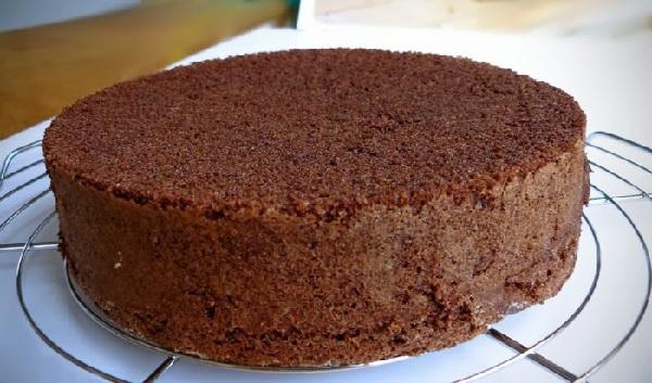 pão de ló de chocolate levíssimo
