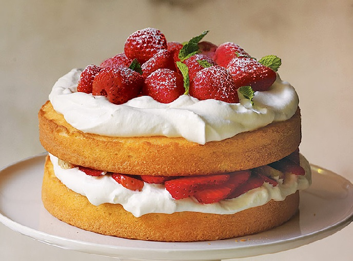 pão de ló para naked cake