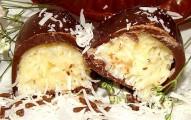 trufa de coco com choco
