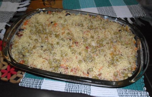 arroz de forno de natal