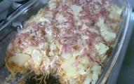 batatas com frango rápida