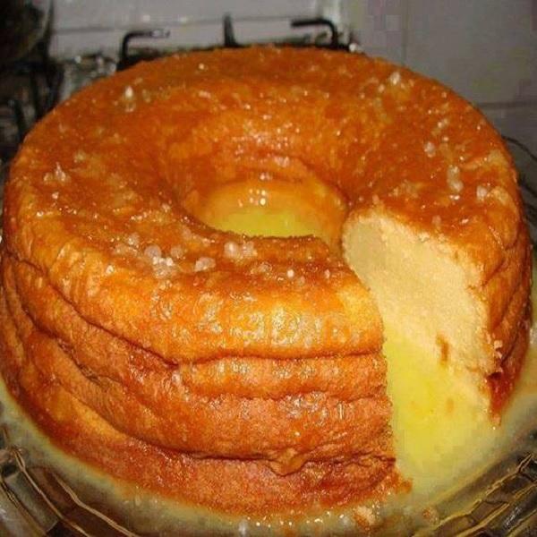 bolo gelado de laranja simples