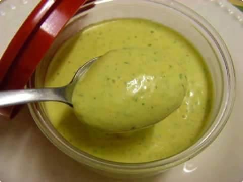molho verde pra salada
