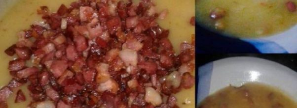 Receita de Caldo de Mandioca com bacon
