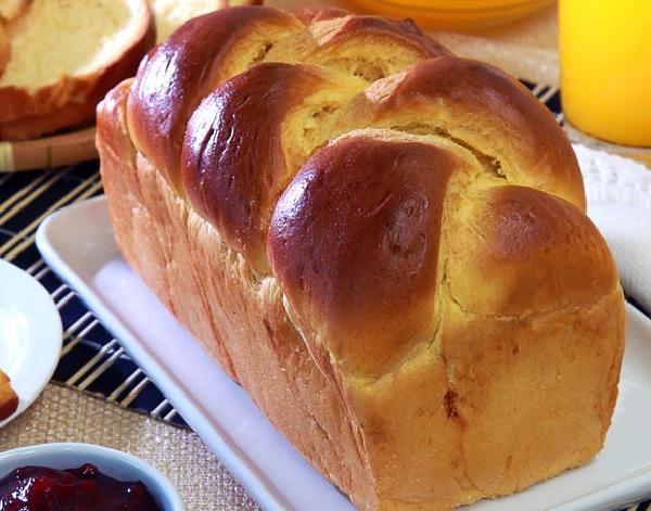 pão brioche, depois de pronto
