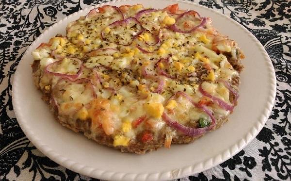 pizza de carne corpo