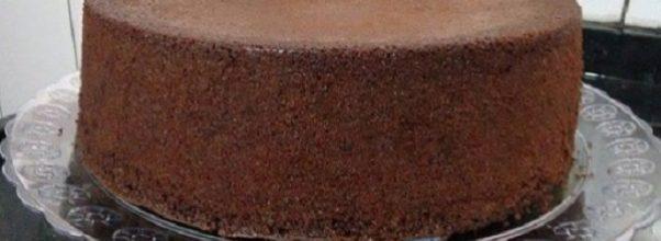 pão de ló de chocolate de liquidificador