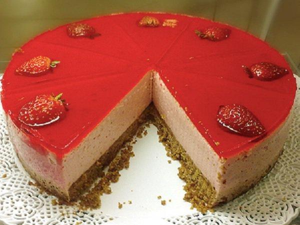 sobremesa de natal: torta mousse de morango