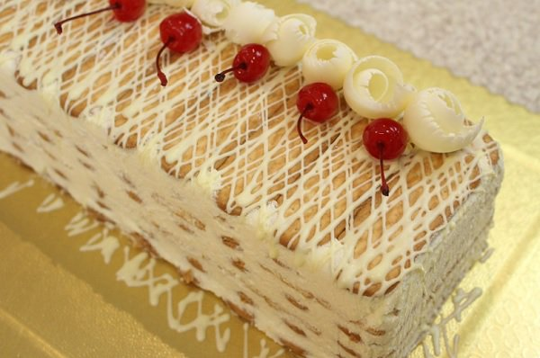 sobremesa de natal: pavê de chocolate branco
