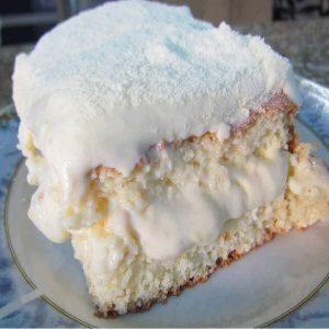 bolo gelado de leite ninho