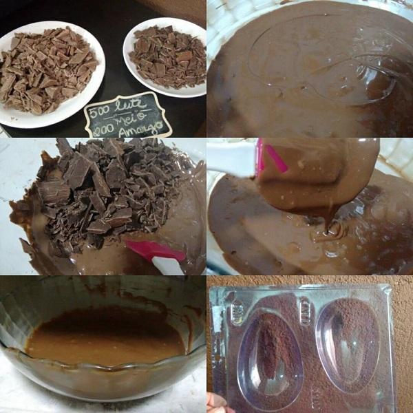 temperagem de chocolate fácil