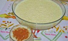 arroz doce na panela de pressao