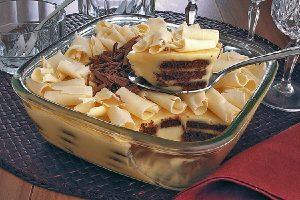pave mousse de chocolate branco