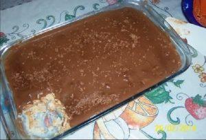 pave simples com biscoito maisena