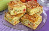 torta de legumes de liquidificador