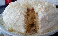 bolo de creme 4 leites com chocolate branco