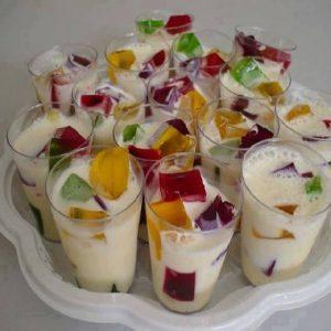 gelatina colorida no copinho 2