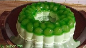 gelatina de limao com uva