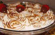 merengue de morango trufado