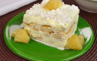 pave de abacaxi com sorvete