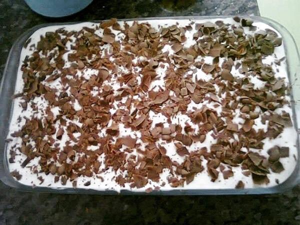 Pavê Simples de Biscoito Maria