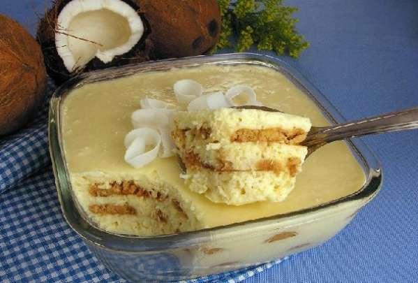 Sobremesa de coco para o dia das mães