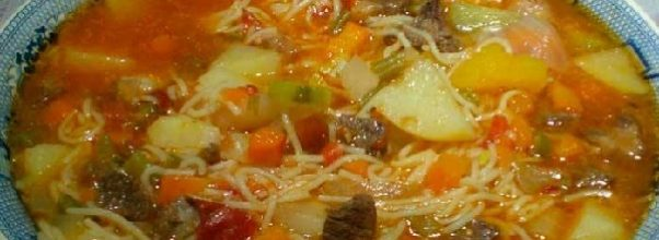 sopa de carne da vovo