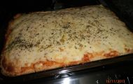 torta de pao de forma com queijo e presunto