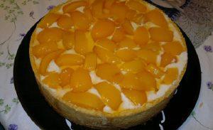 torta de pessego