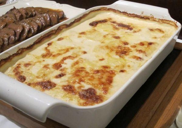 Batata com Creme de Queijo