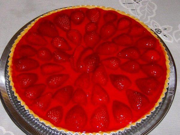Torta de Morango Simples