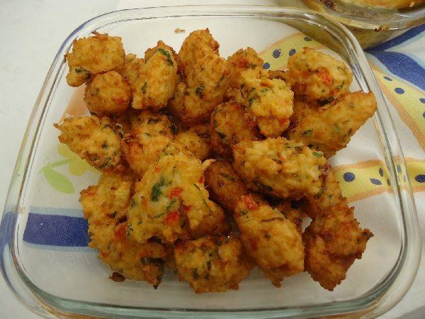 bolinho de arroz com frango