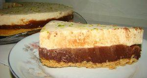 torta de limao com chocolate