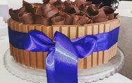 bolo de chocolate para aniversário