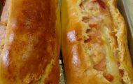pao recheado com presunto e queijo