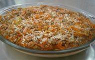 polenta cremosa com molho de carne moida