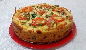 torta de liquidificador de presunto e queijo