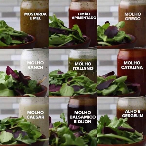 9 Receitas Rápidas de Molho Para Salada