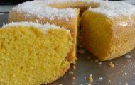 bolo de milho com leite de coco