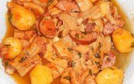 dobradinha com batatas na panela de pressao