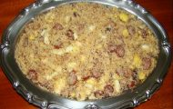 farofa de linguica com bacon