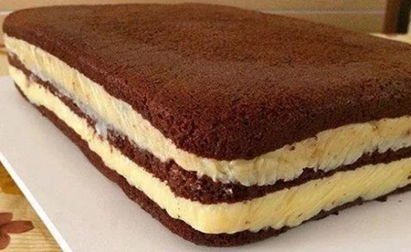 Pão de Ló de Água de Chocolate